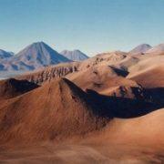 désert d'Atacama vu du volcan Lascar