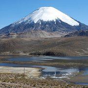 volcan Pomerape, lac Chungara, Chili