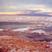 salar d'Atacama au soleil couchant